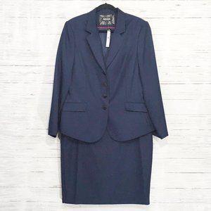 John Meyer ~ Button Front Lined Skirt Jacket Suit
